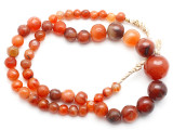Carnelian Graduated Round Beads 8-22mm - Mali (AT7321)