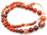 Carnelian Graduated Round Beads 8-23mm - Mali (AT7323)