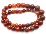 Carnelian Graduated Round Beads 10-26mm - Mali (AT7325)