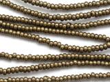 Dark Brass Rondelle Metal Beads - 4mm (ME544)