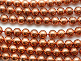 Copper Round Metal Beads - 10mm (ME545)