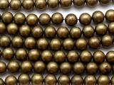 Dark Brass Round Metal Beads - 10mm (ME546)