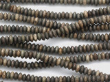 Gray Wood Trade Beads 8mm (AT7233)