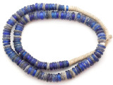 Cobalt Blue Dogon Glass Trade Beads 9-14mm (AT7330)