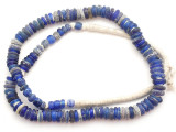 Cobalt Blue Dogon Glass Trade Beads 7-15mm (AT7331)