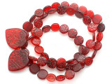 Old Arabic Red Glass Prayer Beads (AT7336)