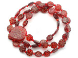 Old Arabic Red Glass Prayer Beads (AT7337)