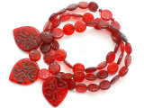Old Arabic Red Glass Prayer Beads (AT7338)