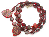 Old Arabic Red Glass Prayer Beads (AT7339)