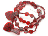 Old Arabic Red Glass Prayer Beads (AT7340)