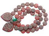 Old Arabic Red Glass Prayer Beads (AT7341)