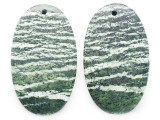 Silver Line Jasper Gemstone Earring Pair 33mm (GSP3663)