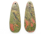 Unakite Gemstone Earring Pair 42mm (GSP3665)