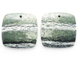 Silver Line Jasper Gemstone Earring Pair 26mm (GSP3674)