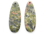Unakite Gemstone Earring Pair 41mm (GSP3704)