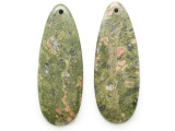 Unakite Gemstone Earring Pair 41mm (GSP3705)