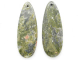 Unakite Gemstone Earring Pair 41mm (GSP3706)