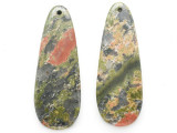 Unakite Gemstone Earring Pair 42mm (GSP3707)