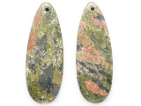 Unakite Gemstone Earring Pair 41mm (GSP3709)