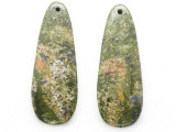 Unakite Gemstone Earring Pair 41mm (GSP3711)