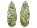 Unakite Gemstone Earring Pair 41mm (GSP3712)