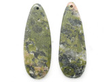 Unakite Gemstone Earring Pair 41mm (GSP3713)
