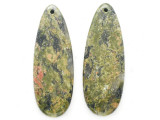 Unakite Gemstone Earring Pair 41mm (GSP3714)