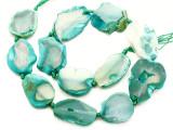 Green Agate Slab Gemstone Beads 26-35mm (AS1066)