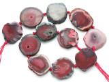 Pink Agate Slab Gemstone Beads 30-32mm (AS1072)