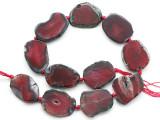 Pink Agate Slab Gemstone Beads 31-36mm (AS1076)