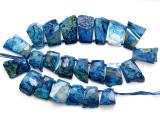 Blue Agate Slab Gemstone Beads 23-41mm (AS1083)