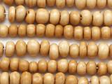 Tan Irregular Round Bone Beads 7-10mm (B1396)