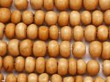 Tan Irregular Round Bone Beads 9-12mm (B1402)