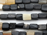 Block Water Buffalo Horn Beads 8-14mm (HN88)