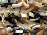 Crescent Slice Water Buffalo Horn Beads 24-46mm (HN93)