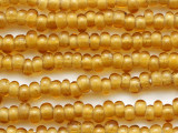 Transparent Yellow Rondelle Glass Beads 6-8mm (JV1391)