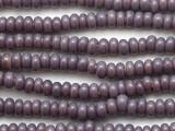 Purple Rondelle Glass Beads 6-7mm (JV1392)