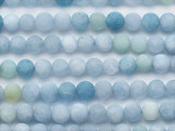 Matte Aquamarine Round Gemstone Beads 6mm (GS5267)