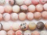 Matte Pink Opal Round Gemstone Beads 10mm (GS5269)
