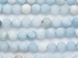 Matte Aquamarine Round Gemstone Beads 8mm (GS5276)