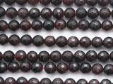 Garnet Faceted Round Gemstone Beads 6mm (GS5279)