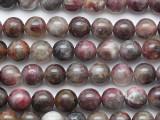 Pink Tourmaline Round Gemstone Beads 8mm (GS5284)