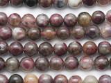 Pink Tourmaline Round Gemstone Beads 7.5mm (GS5286)