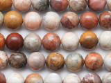 Fossil Coal Agate Round Gemstone Beads 10mm (GS5287)