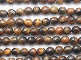 Tiger Eye Faceted Round Gemstone Beads 6mm (GS5290)
