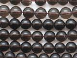 Smoky Quartz Round Gemstone Beads 8mm (GS5295)