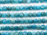 Apatite Faceted Cube Gemstone Beads 6mm (GS5298)