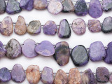 Charoite Petal Tabular Gemstone Beads 14-22mm (GS5321)