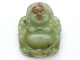 Carved Jade Gemstone Pendant 57mm (GSP3739)