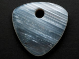 Gray Banded Agate Gemstone Pendant 49mm (GSP3758)